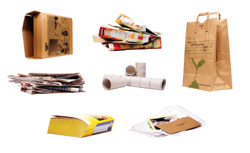 Examples of paper recyclables